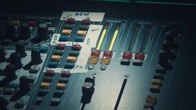 Audio mixer stock footage