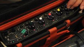 Audio mixer stock video footage
