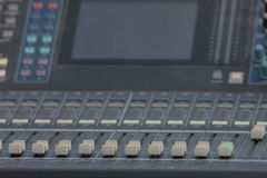 Audio mixer slider and controls detail Stock Photos