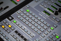 Audio Mixer Table Closeup Royalty Free Stock Photography