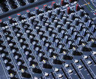 Audio mixing board Stock Images