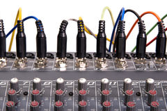 Audio mixing board Stock Photos
