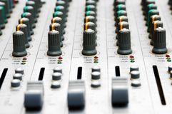 Audio mixing board Stock Photography