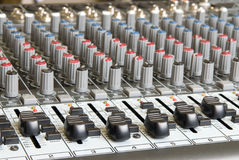 Audio mixing board Royalty Free Stock Image