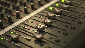 Audio Mixing Board Sliders - HD 1080p footage stock video