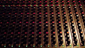 Audio Mixing Board Zoom In Royalty Free Stock Photo