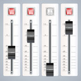Audio mixing console. With buttons royalty free illustration