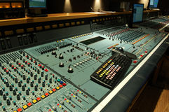 Audio mixing console. In recording studio royalty free stock images