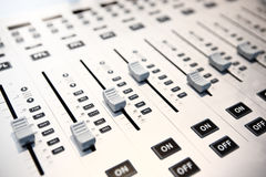Audio mixing console Royalty Free Stock Photo