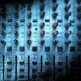 Audio mixing console closeup Royalty Free Stock Photography