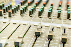 Audio Mixing Console Stock Images