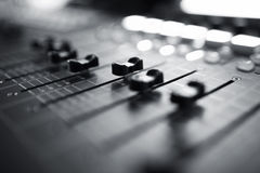 Audio mixing console royalty free stock photography