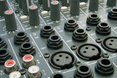 Audio Mixing Desk. Shots of Sound Mixing console royalty free stock image