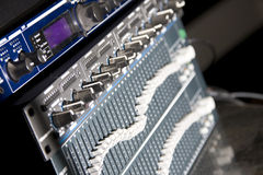Audio mixing panel Stock Image