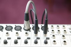 Audio Mixing panel 2. Audio Mixing panel Stock Photography