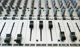 Audio Mixing panel  2 Stock Photos