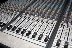 Audio Mixing panel Royalty Free Stock Image