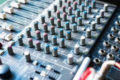 Audio mixing table Stock Image