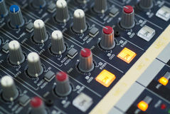 Audio mixing table Stock Photos