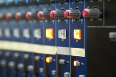 Audio mixing table Stock Photography