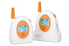 Audio monitor del bambino, allarme del bambino rappresentazione 3d Immagine Stock Libera da Diritti