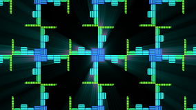 Audio Music Equalise Levels Graphic Computer Generated Technology. This 4K computer generated Audio Music Equalise Volume Levels Graphic could be used for VJs royalty free illustration
