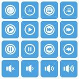 Audio and music flat icon set, flat design icon, vector eps10 royalty free illustration