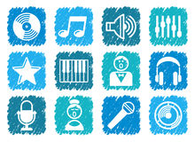 Audio and Music icons Royalty Free Stock Image