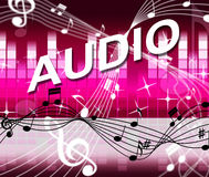 Audio Music Shows Bass Clef And Melody Royalty Free Stock Images