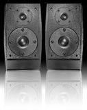 Audio music Speaker on black background Stock Photography