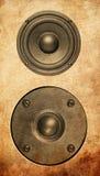 Audio music speaker isolated on white Stock Photography