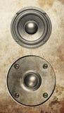 Audio music speaker isolated on white Royalty Free Stock Photos