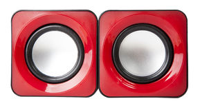 Audio music speaker isolated on white Royalty Free Stock Images
