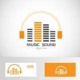 Audio music volume sound headphones logo