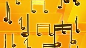 Audio musical de las notas amarillas de la música stock de ilustración