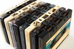 Audio nastro a cassetta d'annata Fotografia Stock
