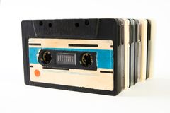 Audio nastro a cassetta d'annata Fotografie Stock