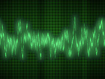 Audio o onda sonora Fotografie Stock
