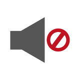Audio off menu button. Vector illustration design Stock Photos