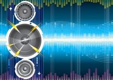 Audio onda dell'altoparlante Fotografia Stock