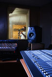 Audio opnamestudio Stock Foto