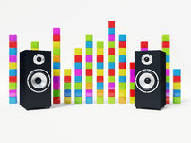 Audio party Royalty Free Stock Image