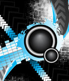 Audio party background Stock Images