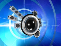 Audio pianeta nel Cyberspace illustrazione di stock