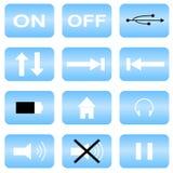 Audio pictogrammen Royalty-vrije Stock Afbeeldingen