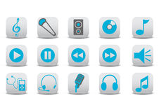 Audio pictogrammen Stock Foto
