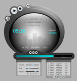 Audio player gadget illustration Royalty Free Stock Image
