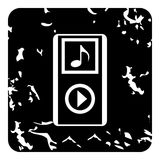 Audio player icon, grunge style Stock Photography