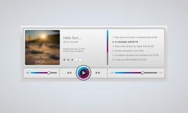 Audio player interface Stock Photo