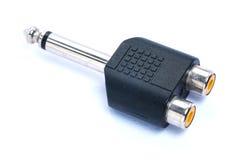 Audio plug adaptors Royalty Free Stock Image